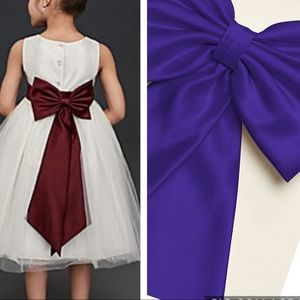 Satin Flower Girl Sash Back Bow David's Bridal